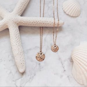 Jewelry - 14k Gold Filled Sand Dollar Dainty Necklace